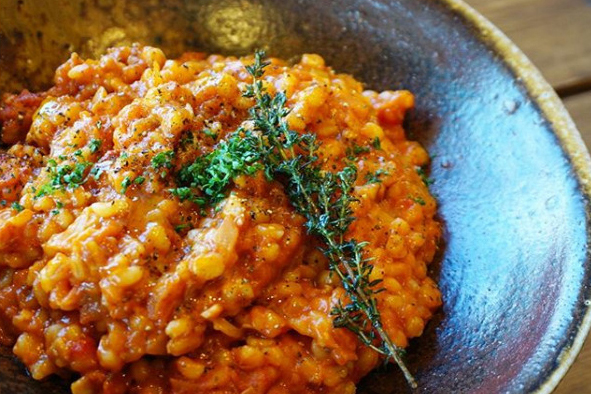 Pearl Barley Risotto with Fresh Tomato