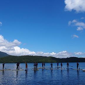 青木湖スタンドアップパドルボート